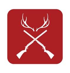 Deer horn hunt icon vector