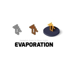 Evaporation icon in different style vector image