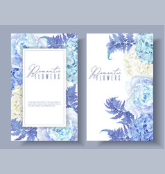 Floral blue banners vector