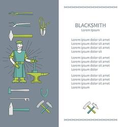 Flyer or banner smith vector