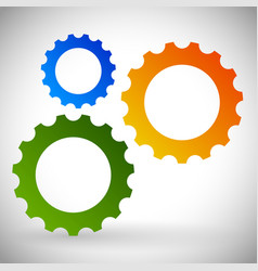gears cogwheels icon graphics for maintenance vector image