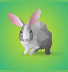 Geometric polygonal farm animal concept vector