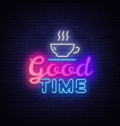 good time neon text times neon sign vector image