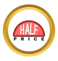 Half price label icon vector image
