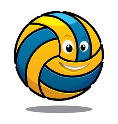 Happy colourful bouncing volleyball ball vector