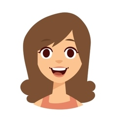 Happy woman face vector