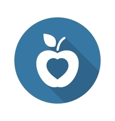 Healthy Eating Icon Flat Design vector image