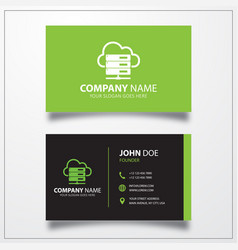 Hosting server icon business card template vector