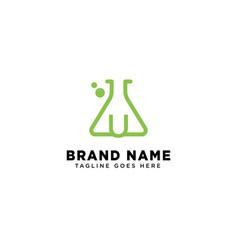initial u molecular dna logo design template icon vector image