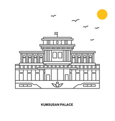 Kumsusan palace monument world travel natural vector