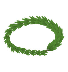 leaf wreath icon isometric style vector image