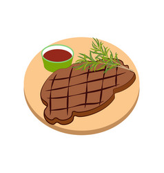 Meat steak vector