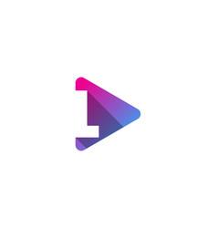 Media letter l logo icon design vector