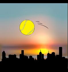 Melbourne australia tennis concept vector