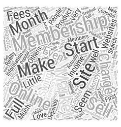 Membership Websites in Full swing Word Cloud vector