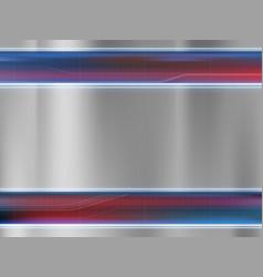 metal empty plate textured steel background vector image