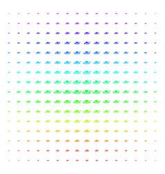 military tank icon halftone spectrum effect vector image