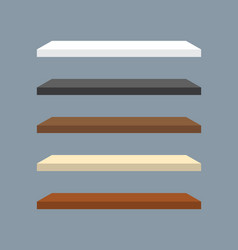 minimal 3d wood bookshelf design set collection vector image
