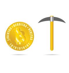 mining bitcoin se symbol vector image