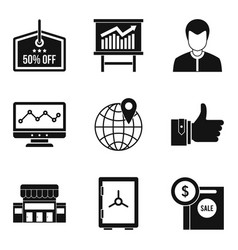 money protection icons set simple style vector image