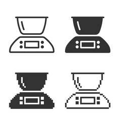 monochromatic kitchen scales icon in different vector image