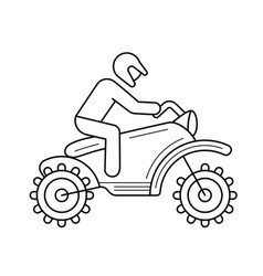 motorcross line icon vector image