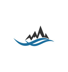 mountain logo graphic design template vector image