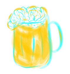 mug of light beer vector image