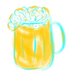 Mug of light beer vector
