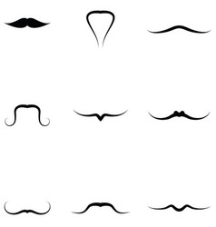 Mustache icons set vector
