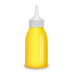 Mustard bottle mockup realistic style vector