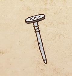 Nail Cartoon vector image