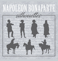 Napoleon forms and silhouettes vector