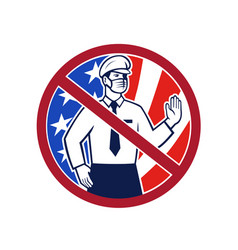 No entry without immunization usa sign icon vector