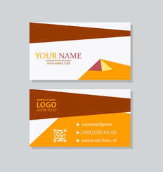 p simple id card with logo or icon for your vector image