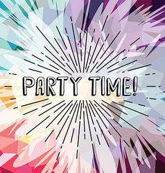 party time text show sunrays retro theme vector image