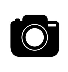 photo camera icon in trendy flat isolated on vector image
