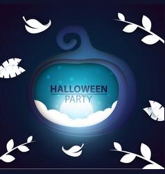 pumpkin paper halloween landscape vector image