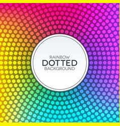 rainbow gradient background with circular dotted vector image