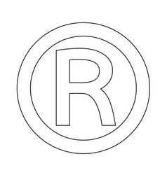 registered trademark icon vector image