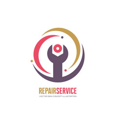 repair service logo template in classic vector image
