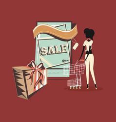 Retro shopping style vector