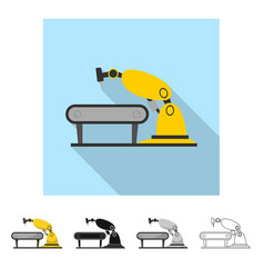 Robot and factory sign vector