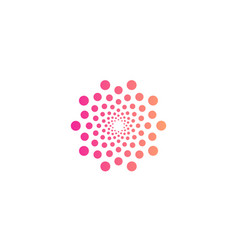 Round abstract logo from circles small and vector