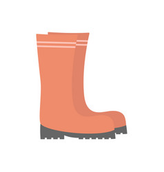 rubber boots isolated on white flat design vector image
