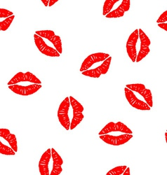 Seamless background with kisses vector