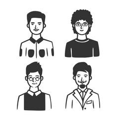 set different types men vector image