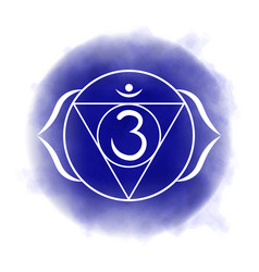 Sixth third eye chakra - ajna vector