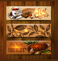 Sketch chocolate vector