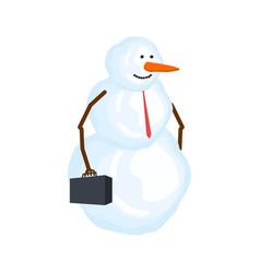 snowman businessman winter boss snow manager vector image